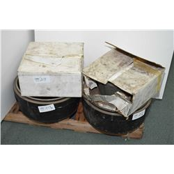 """Pair of HD PLUS X60114, 16.5"""" X 7"""" brake drums and a full set of Abex 6008-502 shoes and hardware- A"""