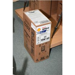 22.7 ltrs. of Shell Rotella 15W-40 motor oil, T4 triple protection- AUCTION HOUSE WILL NOT PROVIDE S