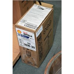 22.7 ltrs. of Shell Rotella 10W-30 motor oil, T4 triple protection- AUCTION HOUSE WILL NOT PROVIDE S