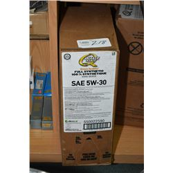 22.7 ltrs. of Quaker State Ultimate Durability, full synthetic 5W-30 motor oil- AUCTION HOUSE WILL N
