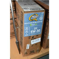 22.7 ltrs. of Quaker State Synthetic blend 5W-30 motor oil- AUCTION HOUSE WILL NOT PROVIDE SHIPPING