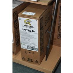 22.7 ltrs. of Quaker State Ultimate Durability, full synthetic 5W-20 motor oil- AUCTION HOUSE WILL N