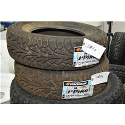Pair of brand new Hankook I-Pike tires P195/70R14- AUCTION HOUSE WILL NOT PROVIDE SHIPPING FOR THIS