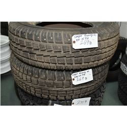 Pair of brand new studded Cooper Discoverer M + S tires 235/75R16- AUCTION HOUSE WILL NOT PROVIDE SH