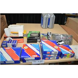 Selection of ATV/ motorbike parts including headlamps and brake shoes etc.- ITEM CAN BE SHIPPED THRO