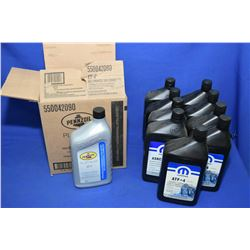 Eight 946ml jugs of Pennzole Fully Synthetic ATF +4 automatic transmission fluid and nine 946ml jugs