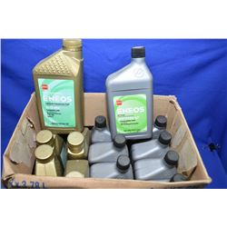 Five 946ml jugs of Eneos Fully Synthetic ECO-ATF transmission fluid plus eight Eneos ATF Type SP aut