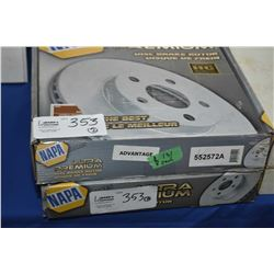 Pair of new Napa Inventory disc brake rotors #552572A (retails $131.00) fits Chevrolet, GMC trucks,