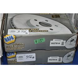 Pair of new Napa Inventory disc brake rotors #5521030A (retails $189.00) fits Chevrolet, GMC truck 2