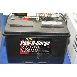 Brand new Power-R-Surge series 4200 1010CA #727MF battery- AUCTION HOUSE WILL NOT PROVIDE SHIPPING F