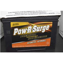 "Brand new Power-R-Surge ""Premium Performance"" Series 6000 820CA 678MF battery- AUCTION HOUSE WILL NO"