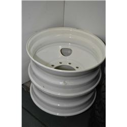 "Pair of brand new, white painted Centrusteel 24.5"" X 8.25"" Hayes Lemmerz rims #1A022417, #70542- AUC"
