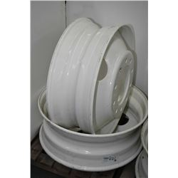 Pair of brand new, white painted Centrusteel 22.5 X 8.25 rims # 1A022417, #70542- AUCTION HOUSE WILL
