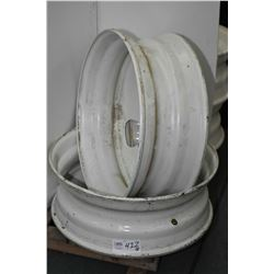 "Pair of brand new, white painted Centrusteel 24.5"" X 8.25"" Hayes Lemmerz rims #1A092105, #87897- AUC"