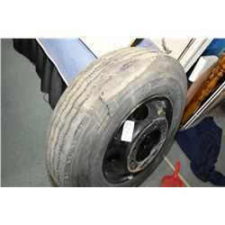 Brand new Goodyear G159 tire 10R 22.5 mounted on a Budd style rim- AUCTION HOUSE WILL NOT PROVIDE SH