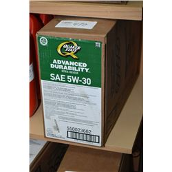 22.7 ltrs of Quakerstate Advanced Durability 5W-30 motor oil- AUCTION HOUSE WILL NOT PROVIDE SHIPPIN