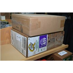 22.7 ltrs. of Quakerstate Ultimate Multi-vehicle automatic transmission fluid plus a Napa #4236.00 t