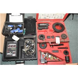 Selection of Ford tools including MLP adapter kit 007-00086, Transmission tester 007-00085, Essentia