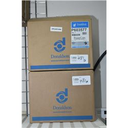 Two new in box filter elements P603577 (retails $78.00)- ITEM CAN BE SHIPPED THROUGH CANADA POST BY