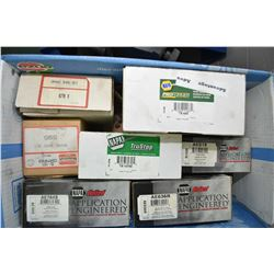 Seven sets of brake shoes including five sets of Napa brake shoes TS445. AE519, AE636R, TS10795, AE7