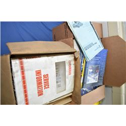 Two boxes of manuals including Yamaha service manuals, Napa parts catalogues etc.- AUCTION HOUSE WIL