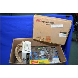 Selection of shop related items including Ingersol Rand valve kit #97338107, selection of chain mast