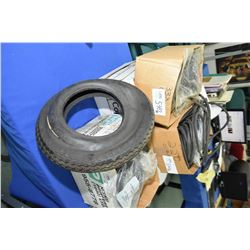 Large selection of tire accessories including Exactra seals, tubes, trailer tire, small tubes etc.-