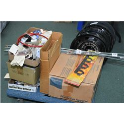 Large selection of shop supplies including stainless brake lines, hose fittings, aluminum brake line