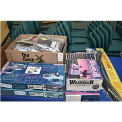 Selection of new accessory inventory truck cold fronts, seat covers, window deflector, tailgate seal