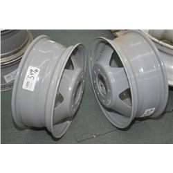 "Pair of new TriCan Chevrolet 17"" rims part #H8076 plus a 16"" rim- AUCTION HOUSE WILL NOT PROVIDE SHI"