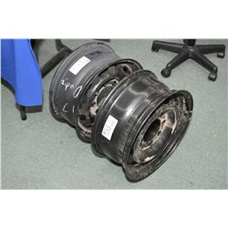 """Pair of brand new Dodge eight stud 17"""" steel rims- AUCTION HOUSE WILL NOT PROVIDE SHIPPING FOR THIS"""