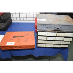 Selection of hardware containers with large selection of wheel studs and nuts- AUCTION HOUSE WILL NO