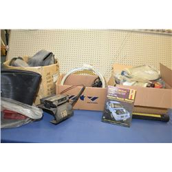 Selection of miscellaneous auto gear including inner tubes, Kenwood TK-762HG-1 VHF/FM transceiver, r