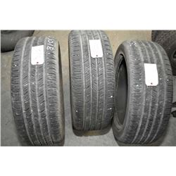 Three slightly used Continental ContiProContact tires 235/50R18 97H- AUCTION HOUSE WILL NOT PROVIDE