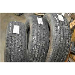 Three slightly used Hankook DynaPro AT tires P235/75R17 1085- AUCTION HOUSE WILL NOT PROVIDE SHIPPIN