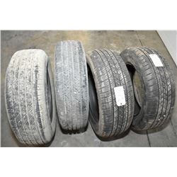 Four slightly used tires including a pair of GT Radial Savero HF2, size P245/60R18, Michelin LTX A?S