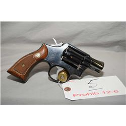 Smith & Wesson Model 10 - 5 .38 Spec 6 Shot Revolver w/ 51 mm bbl [ blued finish, fixed sights, case