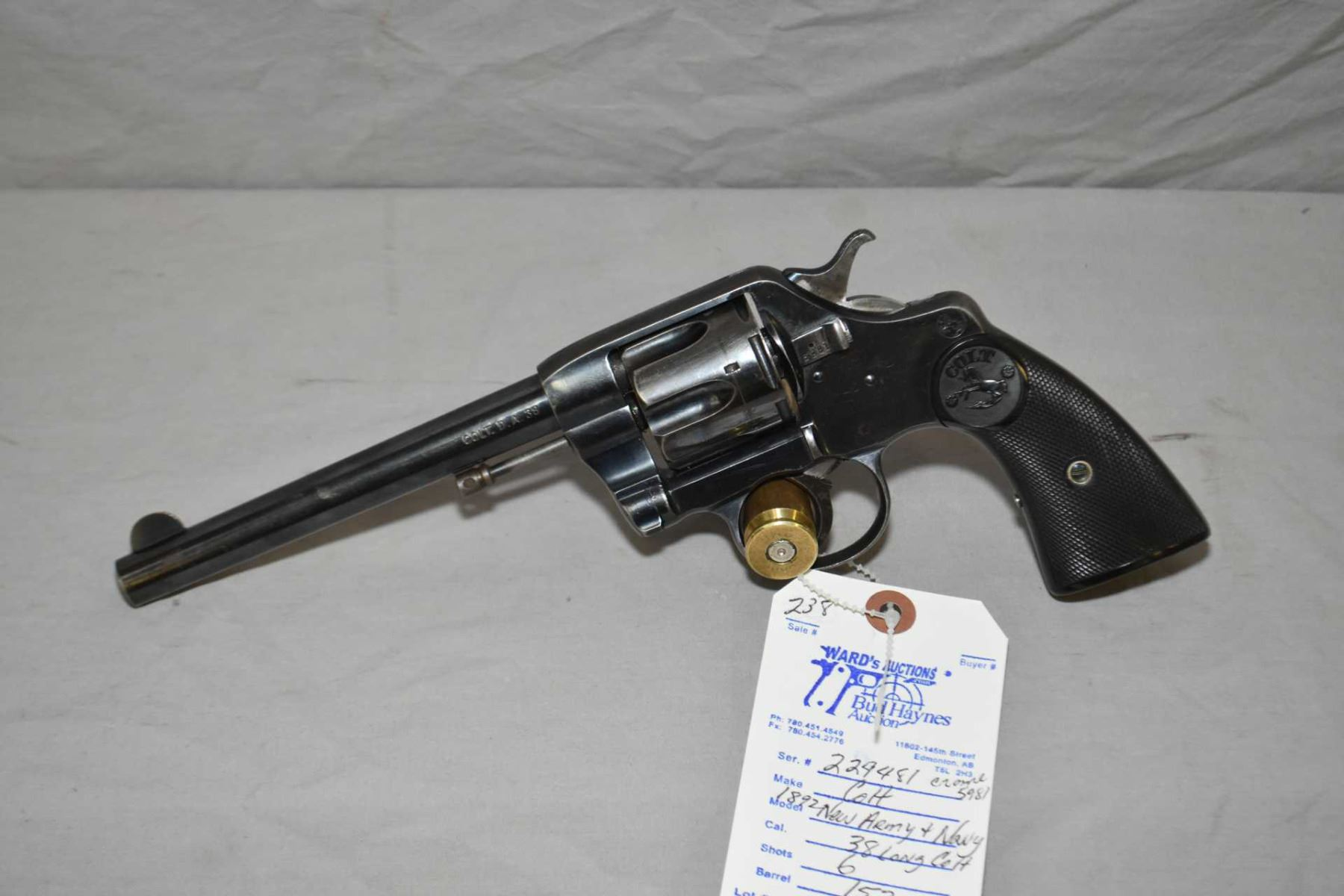 colt model 1892 new army navy 38 long colt cal 6 shot double