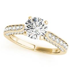 1.1 CTW Certified VS/SI Diamond Solitaire Ring 18K Yellow Gold - REF-152M2F - 27521