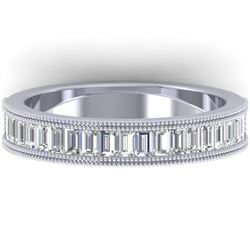 1 CTW Baguette VS/SI Diamond Art Deco Eternity Band 14K White Gold - REF-107X3T - 30315
