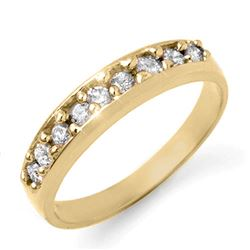 0.50 CTW Certified VS/SI Diamond Ring 18K Yellow Gold - REF-62M9F - 12828