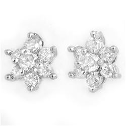 0.50 CTW Certified VS/SI Diamond Earrings 18K White Gold - REF-43X3T - 13583