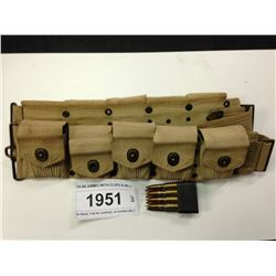30-06 AMMO WITH CLIPS & BELT