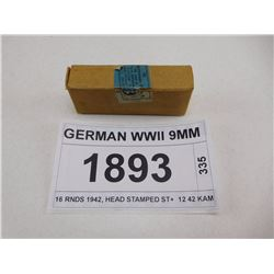 GERMAN WWII 9MM