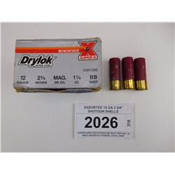 "ASSORTED 12 GA 2 3/4"" SHOTGUN SHELLS"