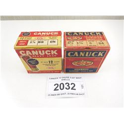 "CANUCK 12 GAUGE 2 2/3"" SHOT SHELLS"