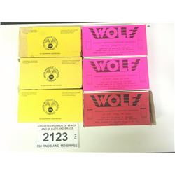 ASSORTED ROUNDS OF 45 ACP AND 45 AUTO AND BRASS