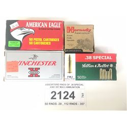ASSORTERD RNDS OF .38 SPECIAL AND 357 MAG AMMUNITION