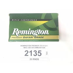 REMINGTON PREMIER 375 H & H MAG 300 GR AMMUNITION