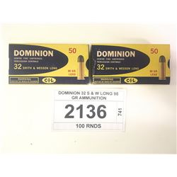 DOMINION 32 S & W LONG 98 GR AMMUNITION